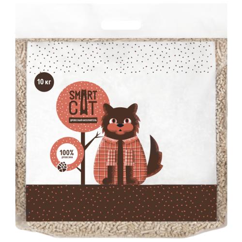 Впитывающий наполнитель Smart Cat Древесный (10 кг)
