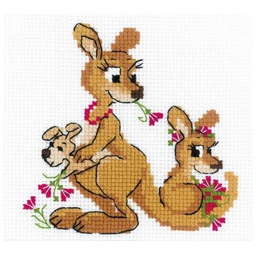 Купить Риолис Набор для вышивания Где гуляли кенгуру 18 х 15 см (1786), Наборы для вышивания