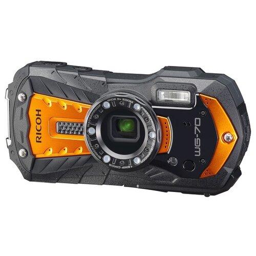 Фото - Фотоаппарат Ricoh WG-70 черный/оранжевый фотоаппарат lumicam dk02 черный