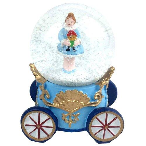 Снежный шар Феникс+ Новогодний водяной шар 8 см (75934), голубой