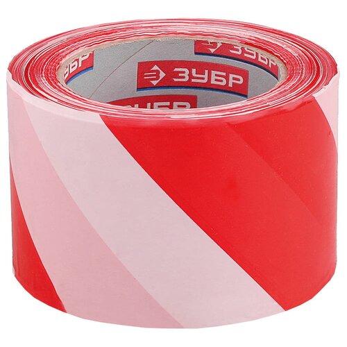 Фото - Сигнальная лента красно-белая 50 мм 200 м Зубр МАСТЕР 12240-50-200 оградительная лента зубр мастер 12240 75 200 красный белый 1 шт