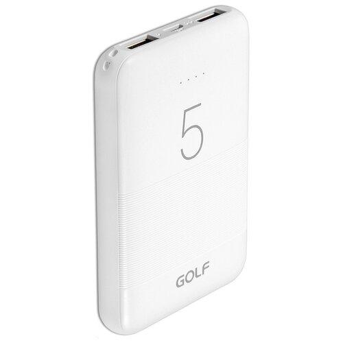 Внешний аккумулятор GOLF G95 5000 mAh 2*USB белый