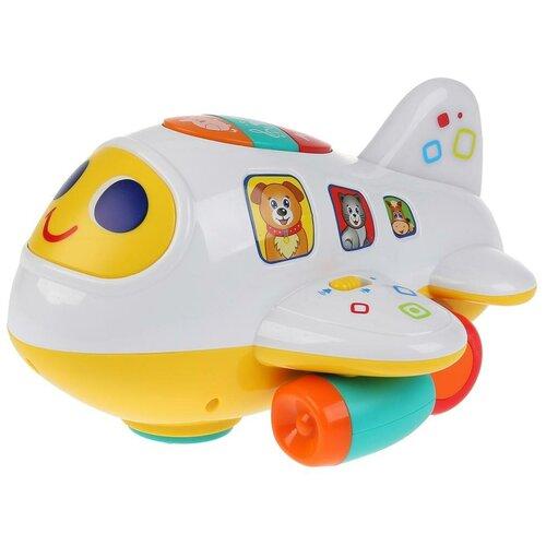Купить Развивающая игрушка Умка Интерактивный самолет, белый/желтый, Развивающие игрушки