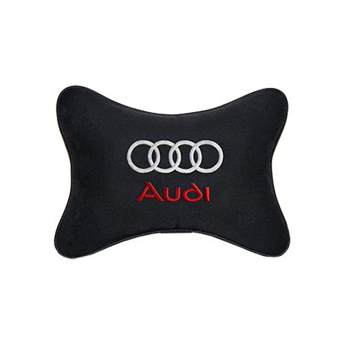 Подушка на подголовник алькантара Black AUDI