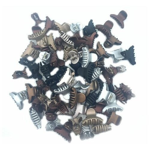 Набор заколок крабы мини 70 штук, классические цвета