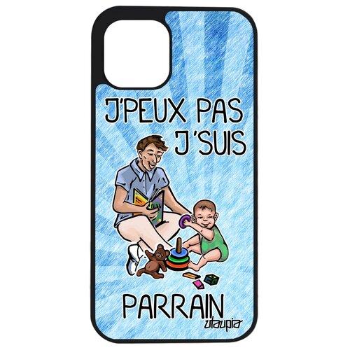 """Чехол для телефонов iPhone 12, """"Не могу - стал крестным!"""" Юмор Комикс"""