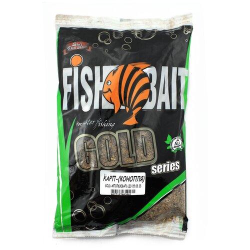 Прикормочная смесь FishBait Gold Карп конопля 1000 г