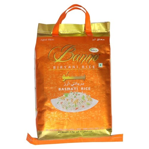 Рис басмати Банно Бирьяни, пакет 5 кг недорого