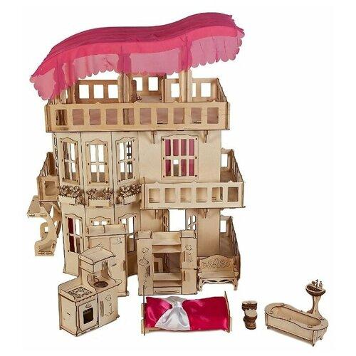 Деревянный кукольный домик для Барби Чудо дом