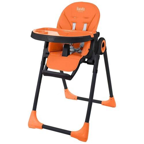 Стульчик для кормления Nuovita Lembo, оранжевый/черный nuovita набор для путешествий viaggio carrozzina черный