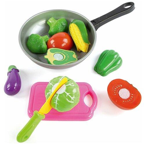 набор продуктов с посудой mary Набор продуктов с посудой Mary Poppins Овощи в сковороде 453045 серый/розовый/зеленый