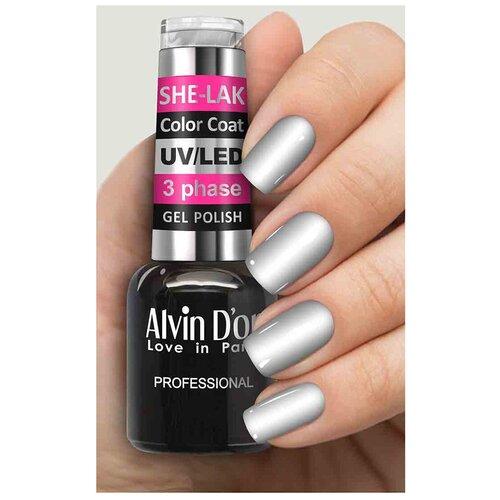 Купить Гель-лак для ногтей Alvin D'or She-Lak Color Coat, 8 мл, 3577