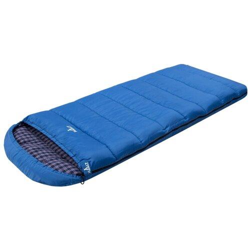 Спальный мешок HALT Lair XL голубой с правой стороны