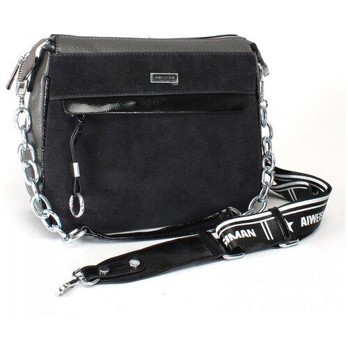 Женская сумка кросс-боди экокожа(искусственная кожа) + натуральная замша Kenguluna 533551