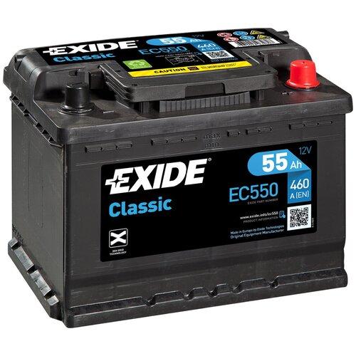 Автомобильный аккумулятор Exide Сlassic EC550
