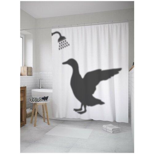 Фото - Штора для ванной JoyArty Гусь в душе 180х200 (sc-8359) штора для ванной joyarty слон в душе 180х200 sc 8358