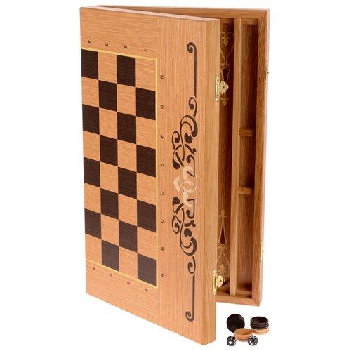 WoodGames Нарды + шашки 2в1, 45мм, дуб 45ДСК2В1 недорого