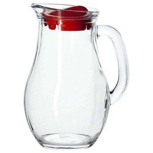 Кувшин Pasabahce Bistro 1 л прозрачный/красный
