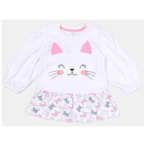 Купить Платье KotMarKot Котики 2021 размер 74, белый, Платья и юбки