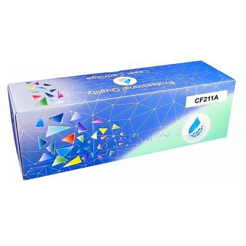 Фото - Картридж Aquamarine CF211A (совместимый с HP CF211A / HP 131X), цвет - голубой, на 1800 стр. печати картридж aquamarine cb541a совместимый с hp cb541a hp 125a цвет голубой на 1800 стр печати