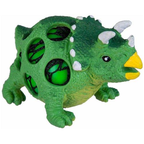 Игрушка-мялка BONDIBON Динозавр трицератопс