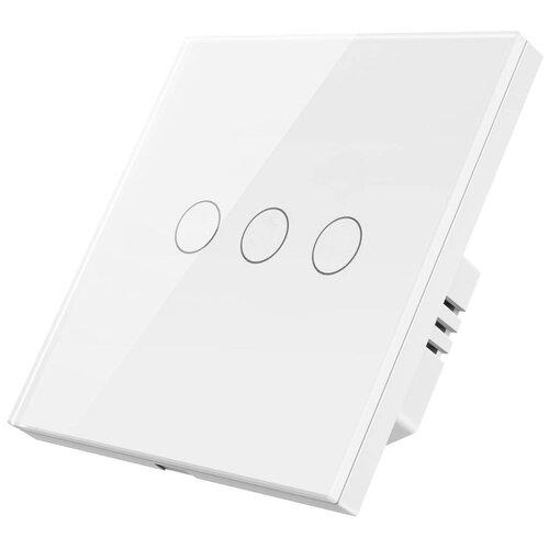 Умный Wi-Fi выключатель Hiper Smart wall 3-Way Touch Switch 3 линии (HDY-ST03W)