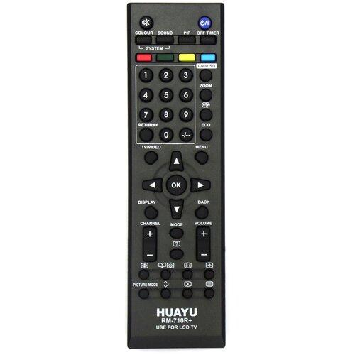 Фото - Пульт ДУ Huayu RM-710R+ для для телевизоров JVC, черный пульт ду huayu rm d759 для toshiba черный