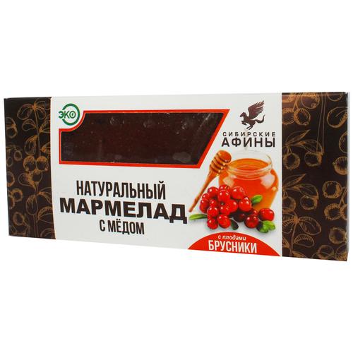 Мармелад Сибирские Афины сибирский на меду с брусникой 200гр мармелад жевательный ecofood siberia сибирские афины ягодное ассорти 100 г