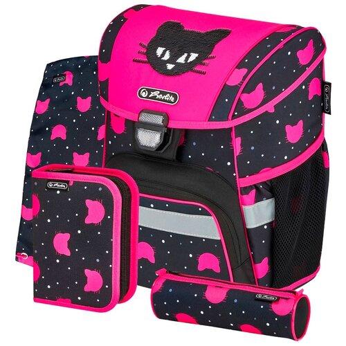 Купить Herlitz Ранец школьный Loop Plus Black Cat с наполнением 50032440, Рюкзаки, ранцы