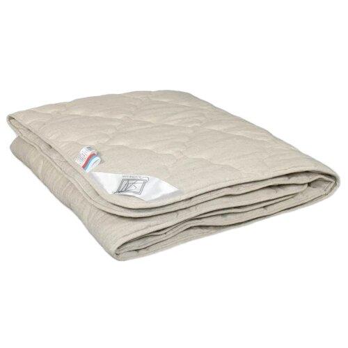 Фото - Одеяло АльВиТек Лён, всесезонное, 172 х 205 см (бежевый) одеяло альвитек модерато эко всесезонное 172 х 205 см сливочный
