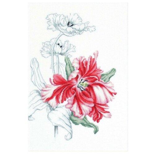 Купить Luca-S Набор для вышивания Красные тюльпаны 23, 5 x 34, 5 см (B2241), Наборы для вышивания
