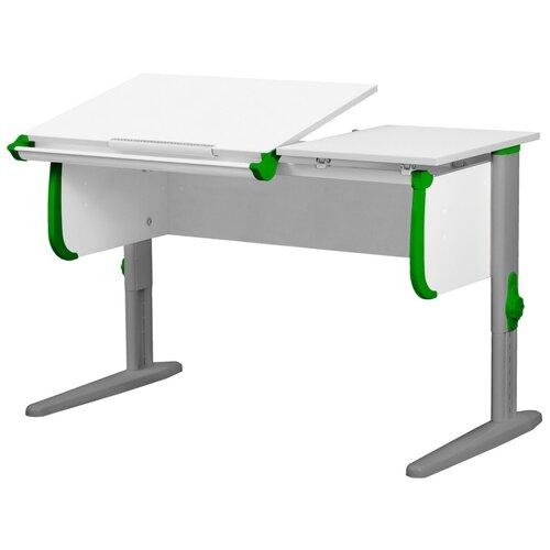 Фото - Стол детский ДЭМИ СУТ 25 120x55 см белый/зеленый/серый стол дэми white double сут 25 01д 120x82 см клен зеленый бежевый