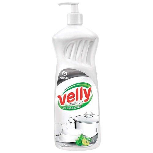 Grass Средство для мытья посуды Velly Premium Лайм и мята, 1 л недорого