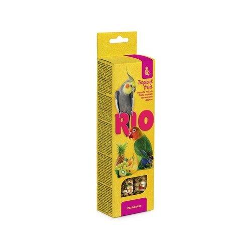 Рио палочки для средних попугаев с тропическими фруктами, 2х75 г, 0,150 кг (2 шт) rio rio палочки для средних попугаев с медом и орехами 2 шт 75 г