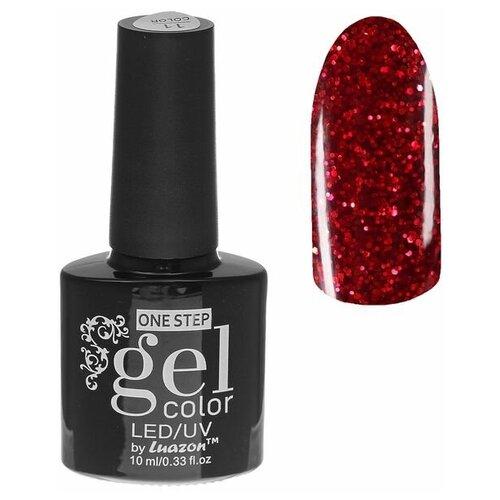 Купить Гель-лак для ногтей Luazon Gel color one step с блестками, 10 мл, 216-187-37 розовый