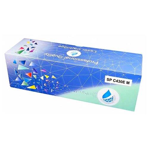 Фото - Картридж Aquamarine SP C430E M (совместимый с Ricoh SP C430E M / SP C430E), цвет - пурпурный, на 24000 стр. печати картридж aquamarine sp c250e c совместимый с ricoh sp c250e c sp c250e цвет голубой на 1600 стр печати