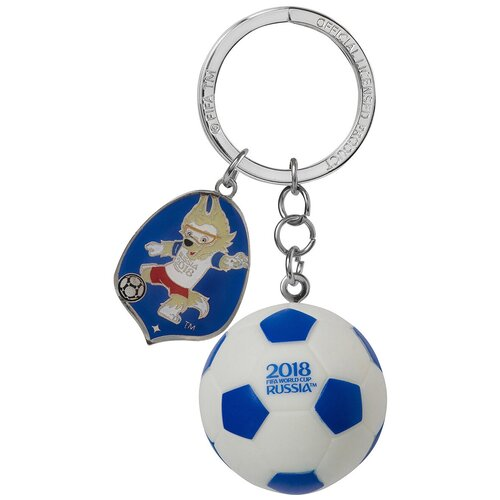 Брелок 2018 FIFA World Cup Russia Забивака. Мяч 3D (СН016), белый/синий брелок 2018 fifa world cup russia забивака сн004 белый красный