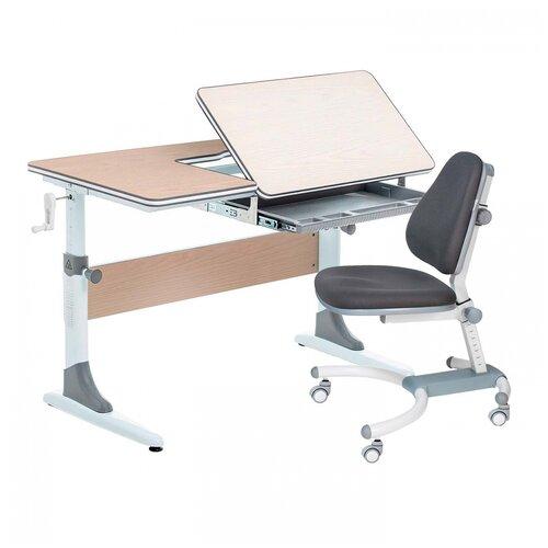 Комплект Anatomica Smart-40 парта + кресло клен/серый с серым креслом K639 комплект anatomica smart 60 парта study 120 lux кресло armata duos надстройка органайзер ящик клен серый зеленый