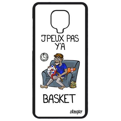 "Чехол для телефона Redmi Note 9 Pro, ""Не могу - смотрю баскетбол!"" Комикс Шутка"