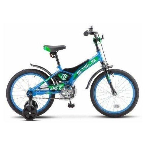 STELS Детский велосипед STELS Jet 14 Z010 голубой/зеленый 8,5