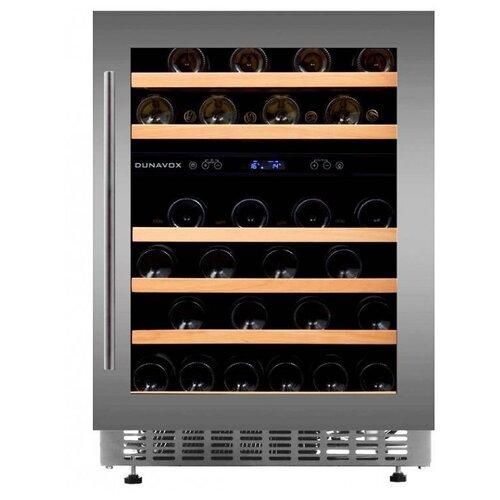 Фото - Винный шкаф Dunavox DAU-46.145DSS винный шкаф 81 л на 32 бутылки монотемпературный серый dau 32 81ss dunavox