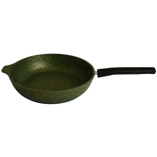 Сковорода KUKMARA Trendy style malachite литая 22 см со съёмной ручкой сковорода d 24 см kukmara кофейный мрамор смки240а