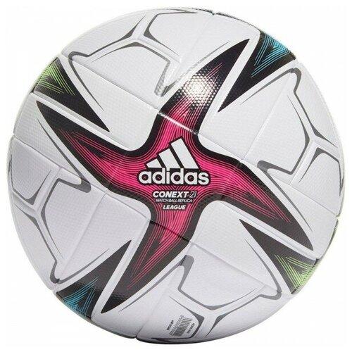 мяч футбольный adidas conext19 tcpt dn8636 белый желтый оранжевый размер 5 Мяч футбольный Adidas Conext 21 Lge арт.GK3489 р.5