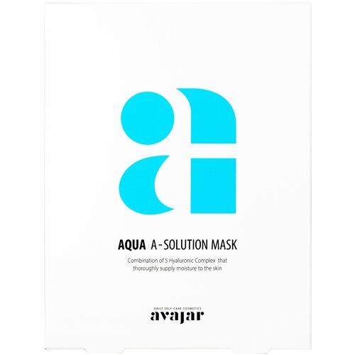 Avajar тканевая маска Aqua A-Solution Увлажняющая, 25 мл, 10 шт. недорого