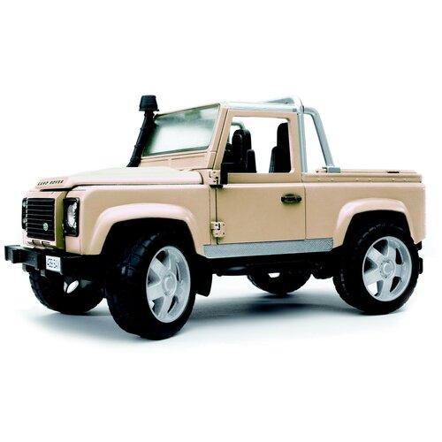 Купить Внедорожник Bruder Land Rover Defender (02-591) 1:16, 28 см, бежевый, Машинки и техника