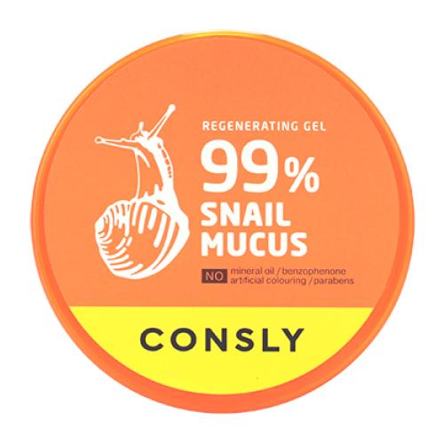 Гель для тела Consly Snail Mucus Regenerating Gel восстанавливающий с муцином улитки, 300 мл гель для тела farmstay многофункциональный смягчающий с муцином улитки moisture soothing gel snail 300 мл