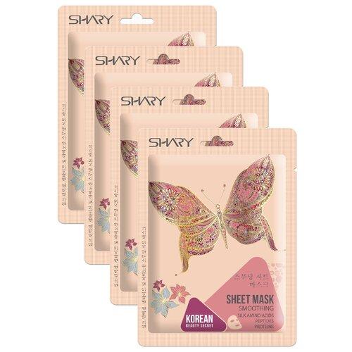 Shary маска-выравнивание Пептиды, протеины и аминокислоты шелка, 25 г, 4 шт. shary омолаживающая тканевая маска муцин улитки и центелла азиатская 25 г 4 шт