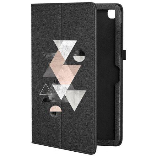 Кожаный чехол подставка для Samsung Galaxy Tab A7 10.4 SM-T500 GSMIN Series CL (Черный) (Дизайн 318)