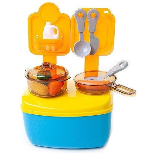 Фото - Кухня ABtoys Помогаю маме PT-01360 желтый/оранжевый/голубой кухня abtoys помогаю маме pt 00791 розовый белый серый