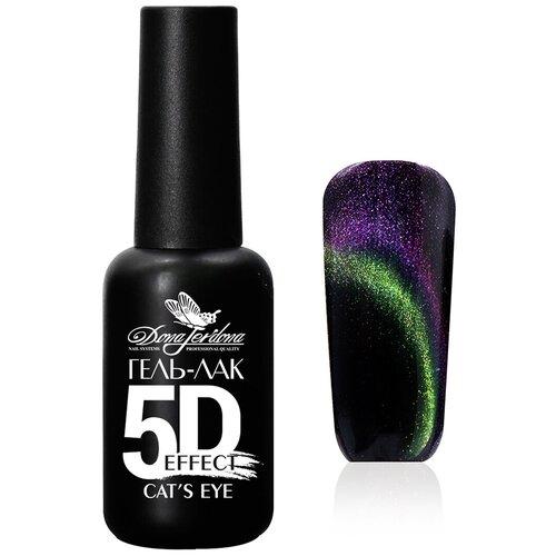 Гель-лак для ногтей Dona Jerdona 5D Cat's Eye, 10 мл, №011 Темный изумруд гель лак для ногтей dona jerdona 5d cat s eye 10 мл 012 лиловая тайна